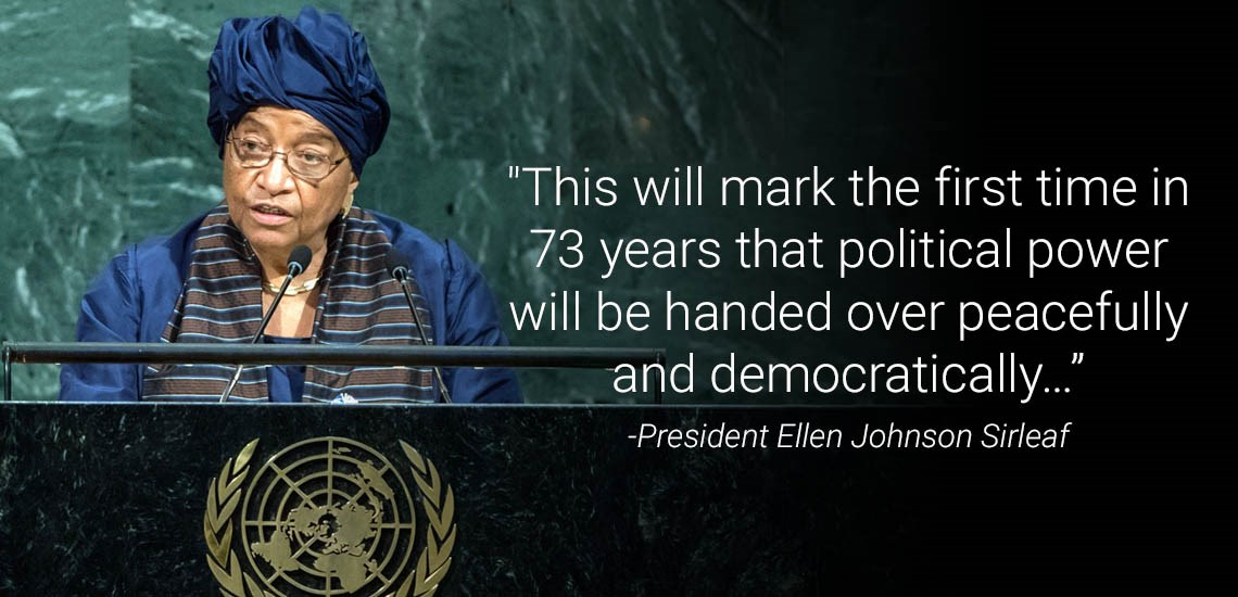 President Ellen Johnson Sirleaf Bids Farewell to UN