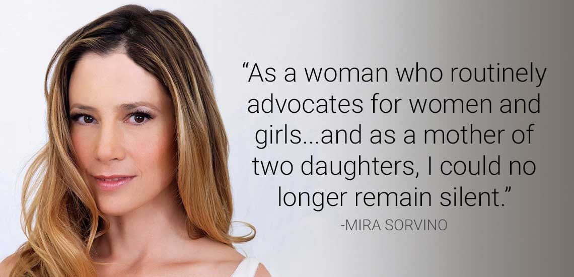Weinstein Accuser and #MeToo Activist Mira Sorvino