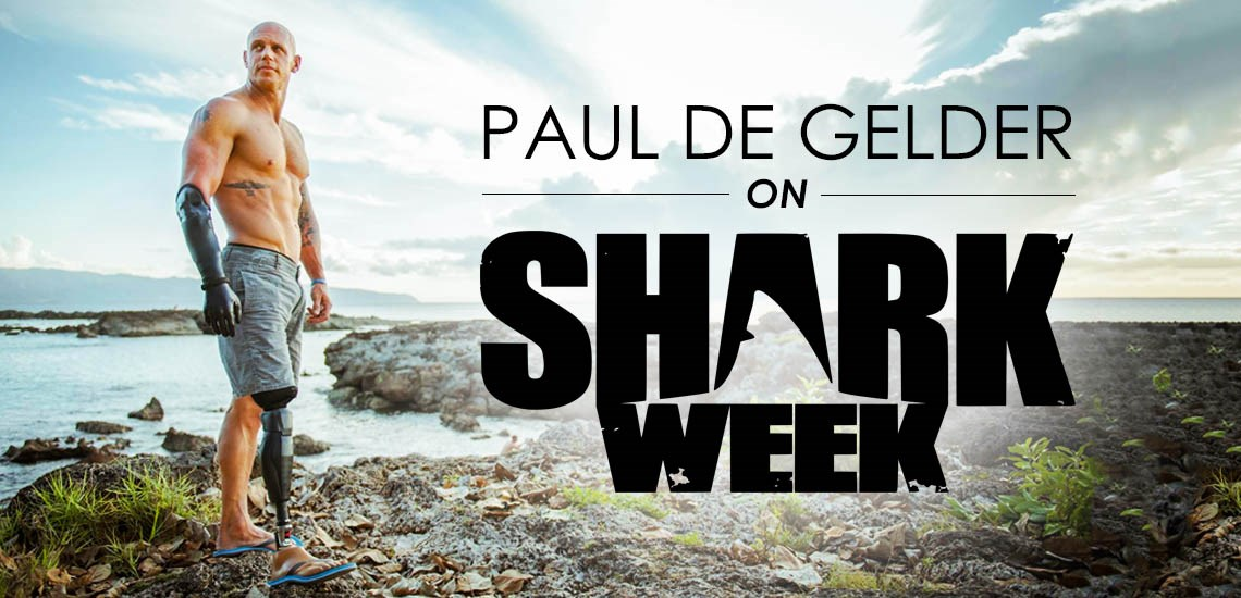Motivational Speaker & Shark Attack Survivor Paul de Gelder to Host on Shark Week