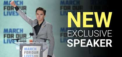 New Exclusive Speaker: David Hogg, Co-Founder of March for Our Lives