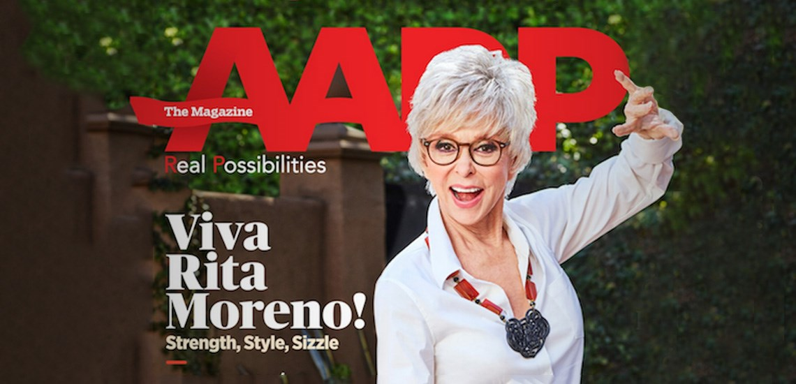 "Trailblazing Actress Rita Moreno Featured on Cover of ""AARP The Magazine"""