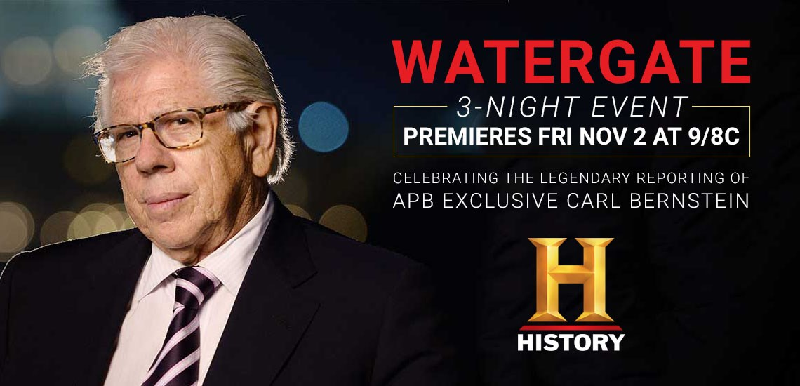 "APB's Carl Bernstein in Special Series, ""Watergate"""