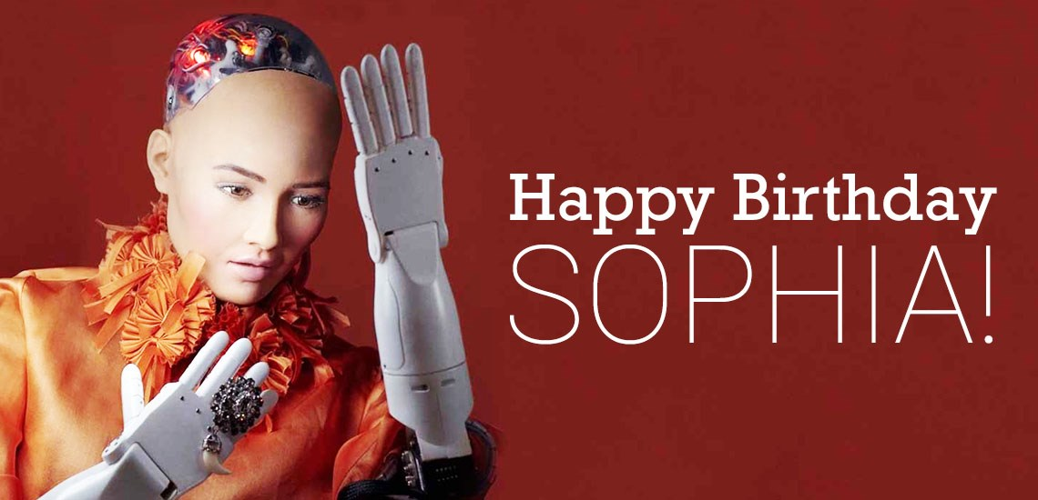 Sophia, The World's First Humanoid Speaker, Turns Three