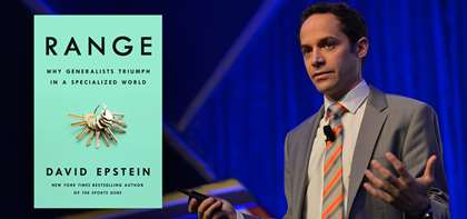 "David Epstein's New Book ""Range"" Already Receiving Rave Review"