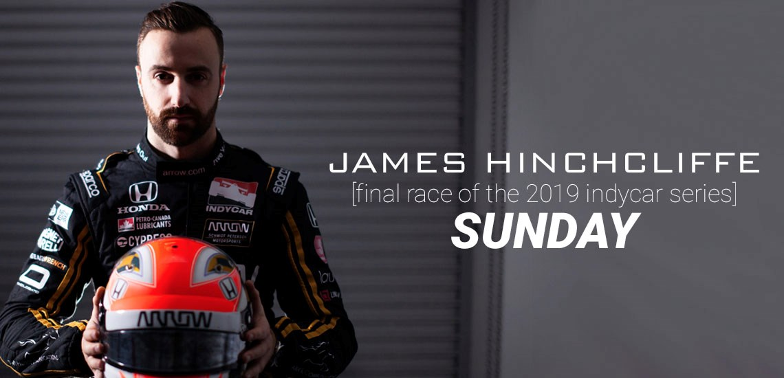 SUNDAY: Don't Miss James Hinchcliffe in Final Race of 2019 IndyCar Series