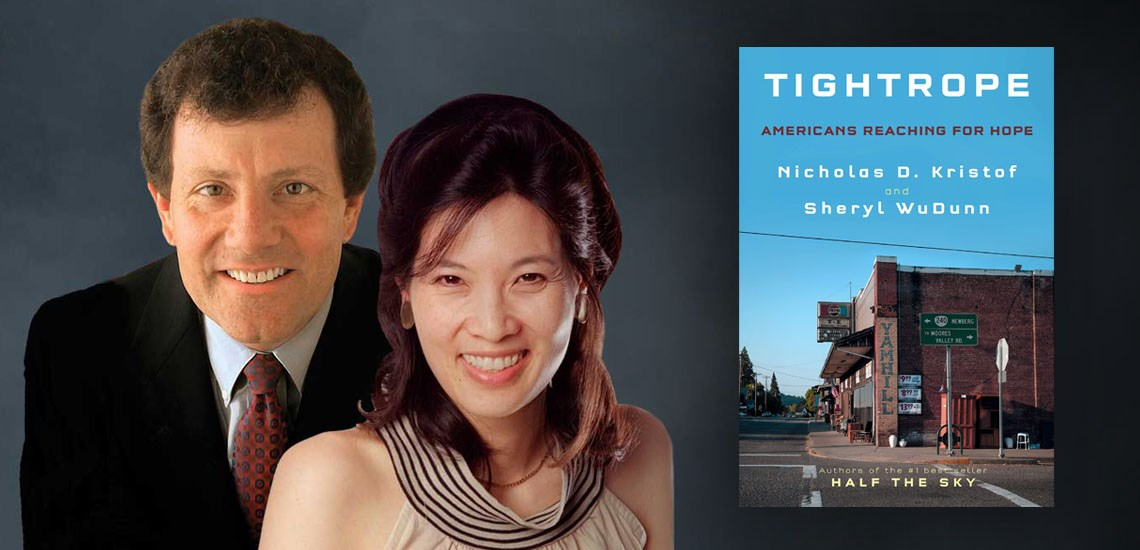 "APB Speakers Nick Kristof & Sheryl WuDunn Release New Book, ""Tightrope"""