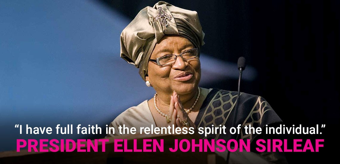 Ellen Johnson Sirleaf Shares How to End COVID-19 by Going Back in Time to Ebola