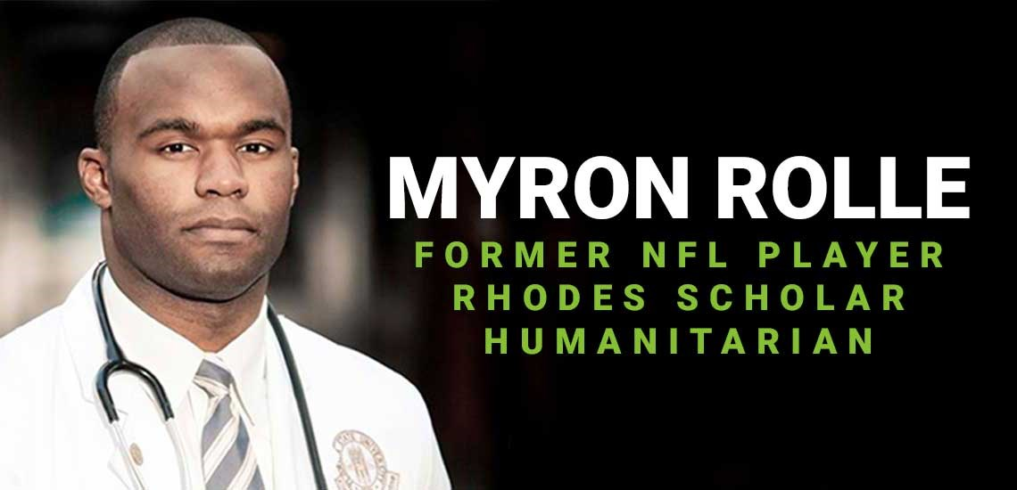 Myron Rolle Using Lessons Learned from the NFL to Help Fight COVID-19